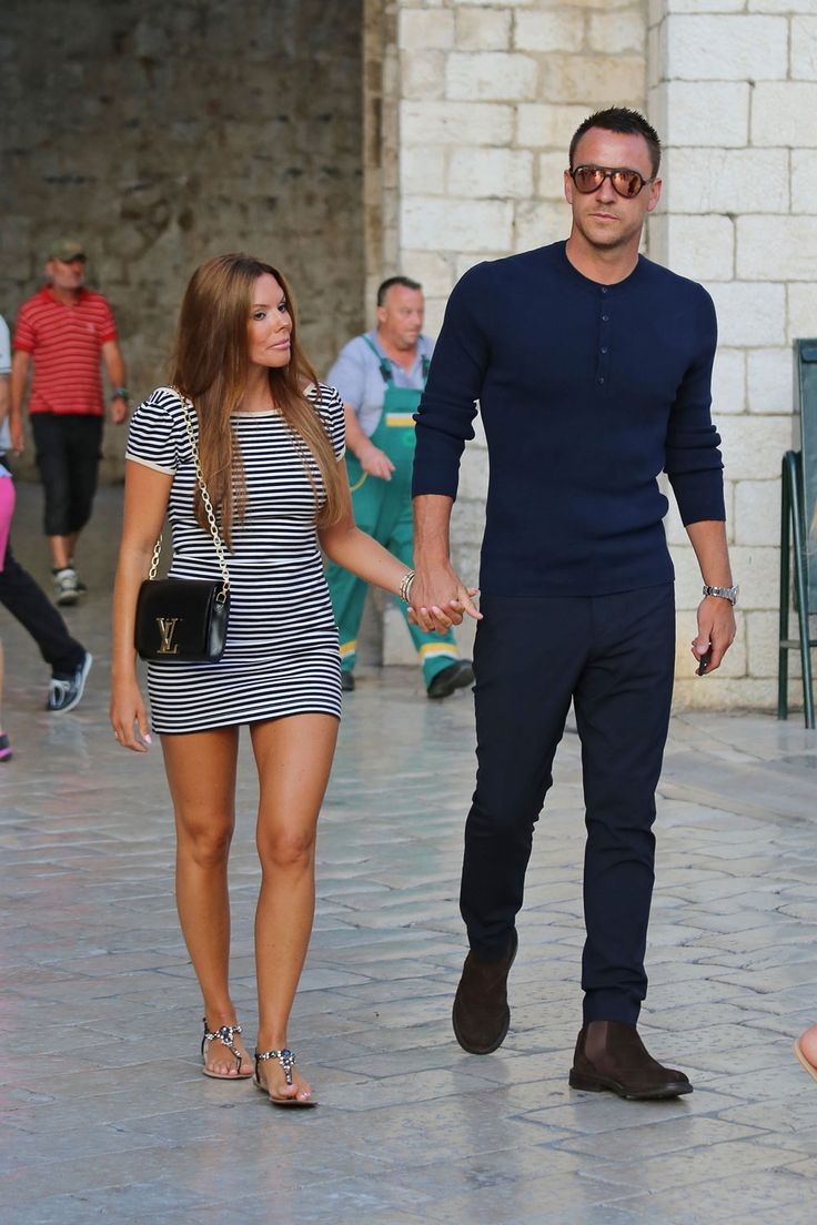 John Terry strolls with his wife in Dubrovnik