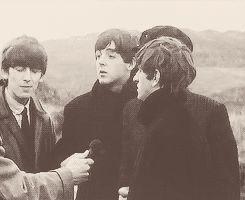 Paul McCartney john lennon ringo starr george harrison The Beatles gif