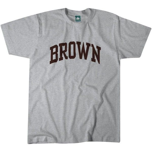 Brown Classic T-Shirt (Grey) ❤ liked on Polyvore featuring tops, t-shirts, shirt top, t shirt, brown shirts, grey shirt and brown t shirt