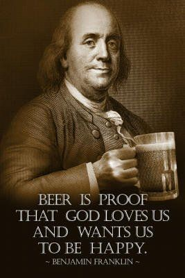 Homebrew Finds: Benjamin Franklin Beer Poster - $3.99 + Shipping, Save 72%