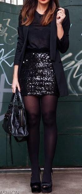 sequin mini skirt.                                                                                                                                                      Más