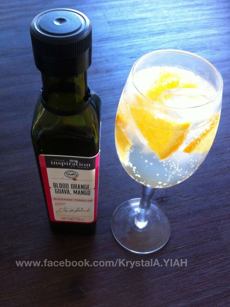 "YIAH Blood orange, mango and guava Spritzer   Ingredients:  Soda water Orange/mango or guava slices YIAH Blood orange, mango and guava Balsamic (Otherwise known as ""OMG"" Ice  to see full recipe vist www.facebook.com/KrystalA.YIAH"