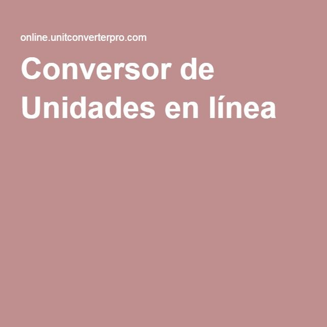 Conversor de Unidades en línea
