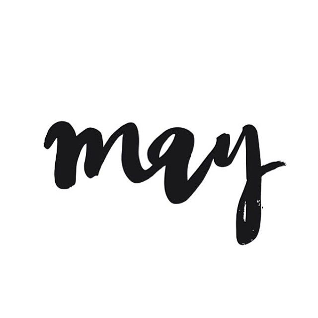 welcome to May   #lettering by Jasmine Dowling