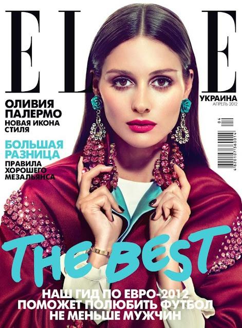 Olivia Palermo for Elle Ukraine - Want those earrings!: Oliviapalermo, Ukraine April, Fashion, Style, Elle Ukraine, Olivia Palermo, April 2012, Covers Girls, Magazines Covers