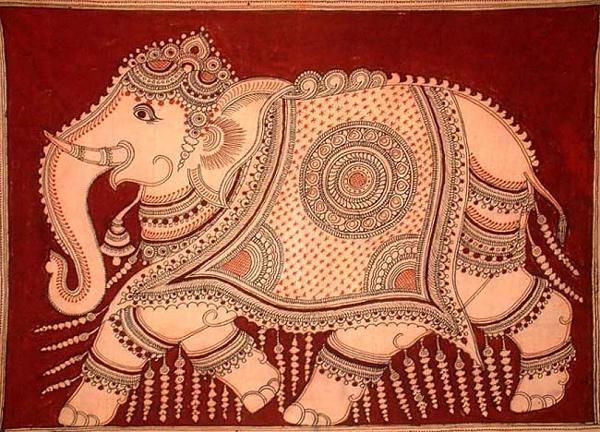 Indian Painting Styles...Kalamkari Paintings (Andhra Pradesh)-kalamkari-elephant1-2-.jpg
