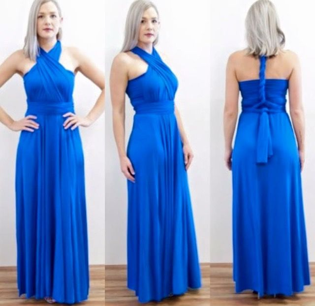 Royal Blue Zeredah. Striking and stunning. Our stunning Zeredah gown. The styles are endless. Zeredah Convertible Dresses available in Perth at Nora and Elle Bridesmaids.