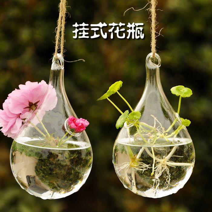 ... crystal transparent glass vase hanging glass ball hydroponic plants vases