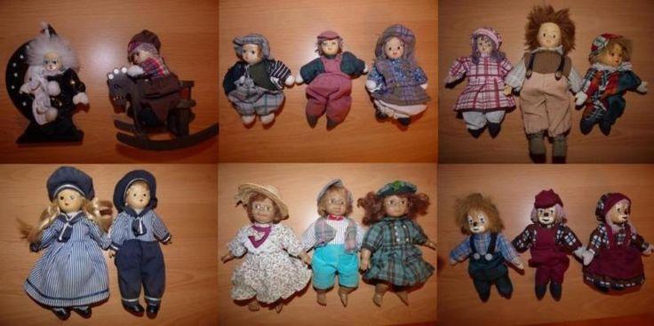16 verschiedene Puppen.Alle haben die Zeit in einer Vitrine gestanden. Sind regelmäßig geputzt worden. Sammler Puppen, Schau Puppen, keine Spiele Puppen.
