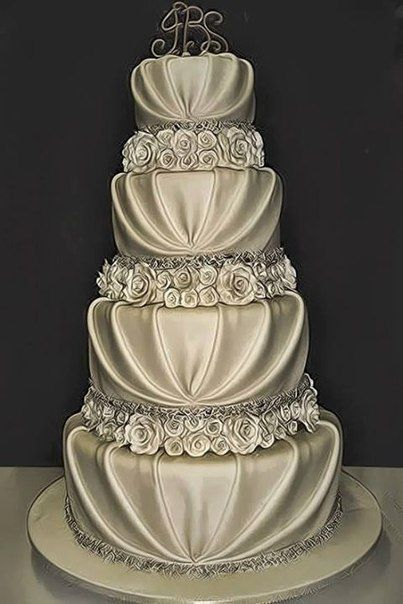 pillow icing wedding cake - Google Search