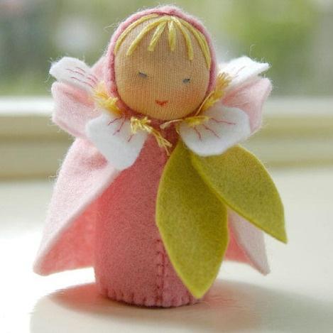 Standing Puppet - spring flower fairy cuteness!
