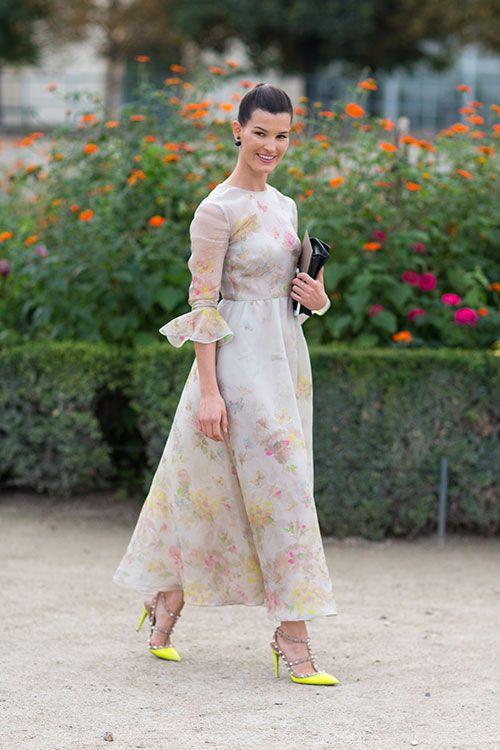 Street Style: Paris Fashion Week Spring 2014 - Hanneli Mustaparta in Valentino