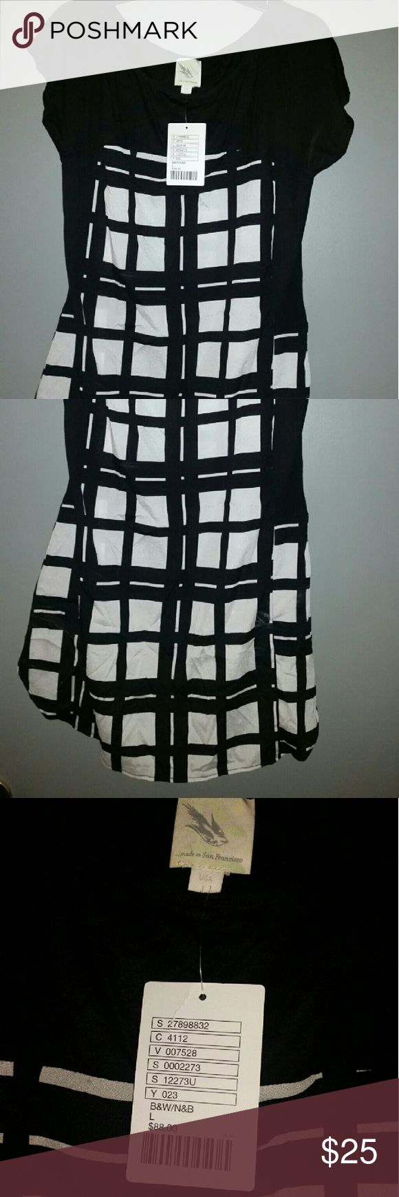 NWT ANTHROPOLOGIE MADE IN SAN FRANCISCO DRESS  L Dress or top large anthropologie Anthropologie Dresses Mini