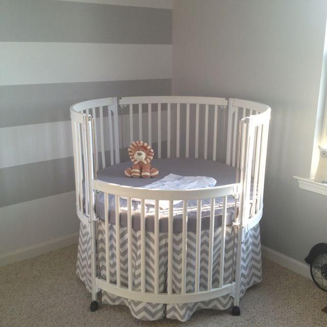 Beautiful White Round Crib Yes Nursery Pinterest