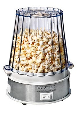 """Different movies call for different flavors. """"The Bourne Identity?"""" Something spicy. A Jennifer Aniston flick? Sweet Caramel. """"He's Just Not That Into You?"""" Definitely cheese. With Cuisinart's EasyPop Plus Flavored Popcorn Maker ($80.00), you can custom pop every bucket of nosh to suit whatever mood or movie you happen to fancy. Pop up to 10 cups of popcorn in under 5 minutes, and mix in your favorite toppings and flavorings with the flip of a switch. Just consult the recipe booklet for…"""