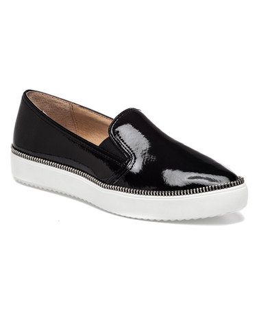 Love this Black Patent Dabble Leather Slip-On Sneaker on #zulily! #zulilyfinds