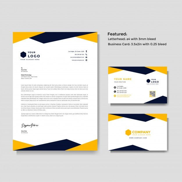 Letterhead And Business Card Template Letterhead Business Free Letterhead Template Word Business Card Template