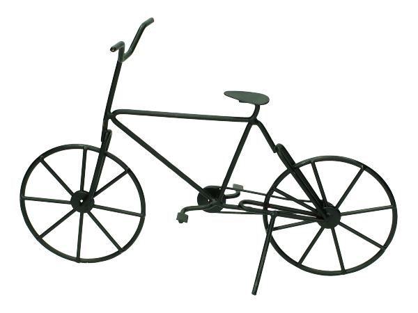 Fiets ornament zwart deze fiets is leuk ter decoratie in for Metalen decoratie fiets