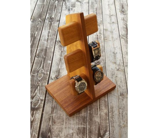 horloge houder kijken organisator horloge Watch stand, unieke Gift van de verjaardag van de giften, Groomsm Watch vak voor menan geschenk, Gift voor echtgenoot weergeven