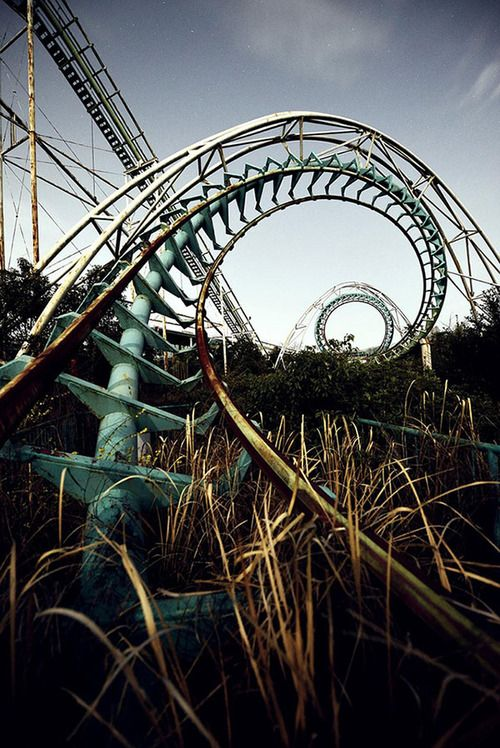 Abandoned Amusement Parks  1. Hubei province, China 2. Abandoned...