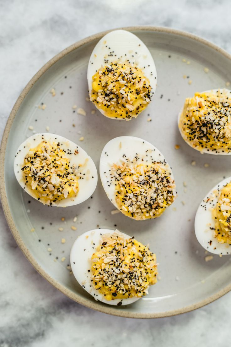 Everything Bagel Deviled Eggs High Protein Vegetarian