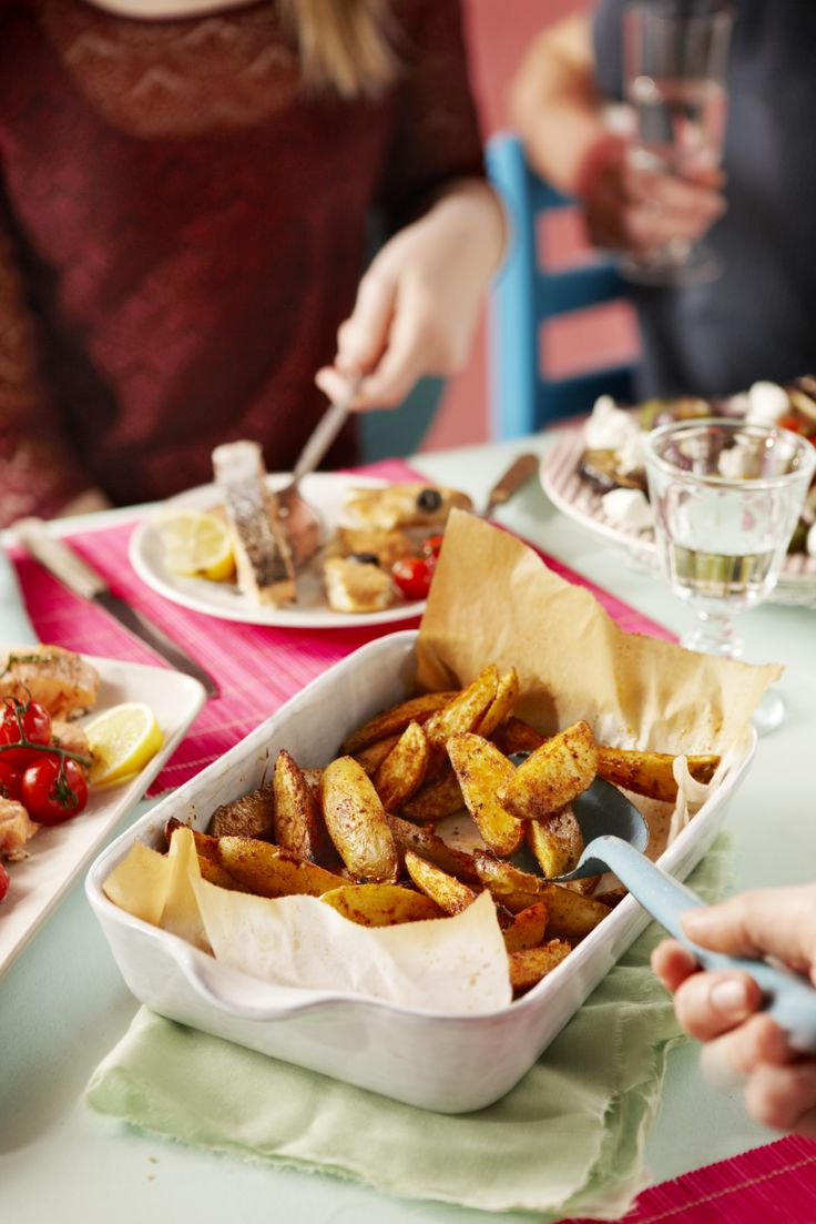 Aardappels uit de oven met specerijen - Boodschappen