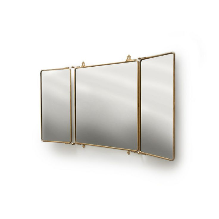 Web Photo Gallery wATERWORKS Daphne Metal Rectangular Wall Mounted Trifold Mirror x Way MirrorsBathroom