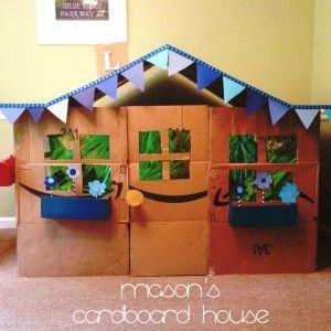 how to make a cardboard house step by step