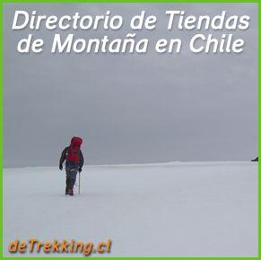 Directorio de Tiendas de montaña en Chile, venta de material de montaña, senderismo y trekking. Calzado, Ropa, equipo de montaña y alpinismo, artículos outdoors