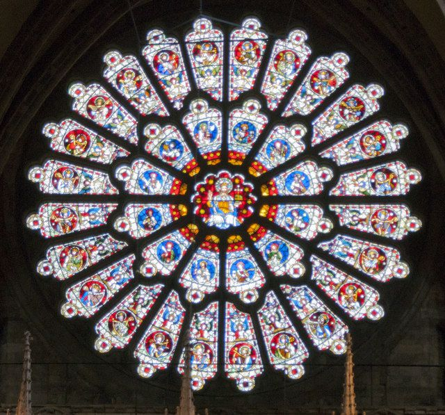 The rose window at Durham Cathedral