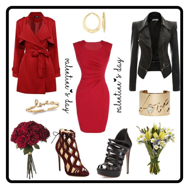 Valentine Double by rosehage on Polyvore featuring polyvore, fashion, style, Prada, Alexandre Birman, Lanvin, Ross-Simons, women's clothing, women's fashion, women, female, woman, misses and juniors