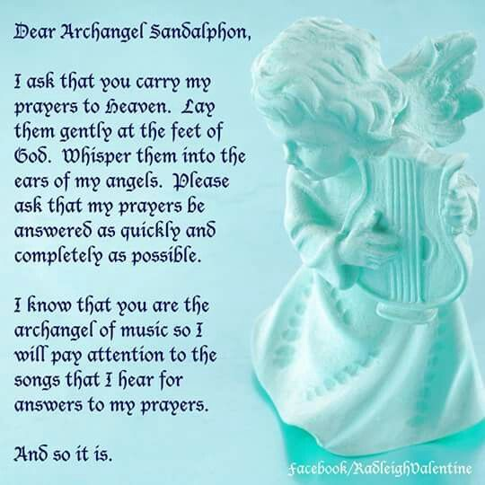 Dear Archangel Sandalphon...