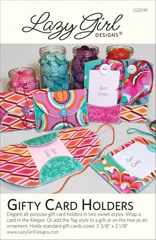 Gifty Card Holders by Lazy Girl Designs (Printed Paper Pattern)