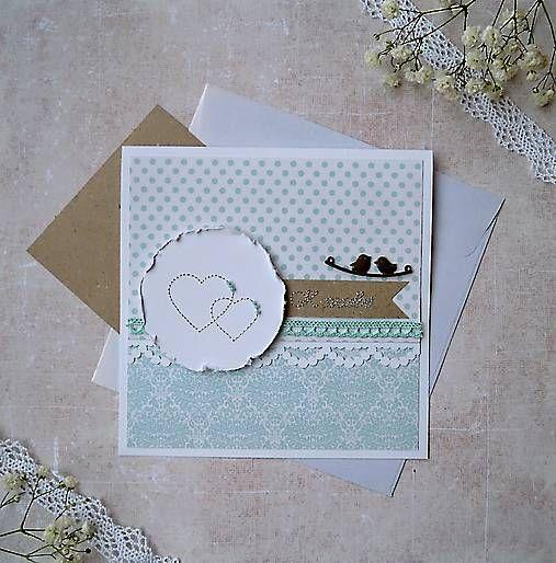 MMdesign / Pozdrav vyšívaný, svadobný -
