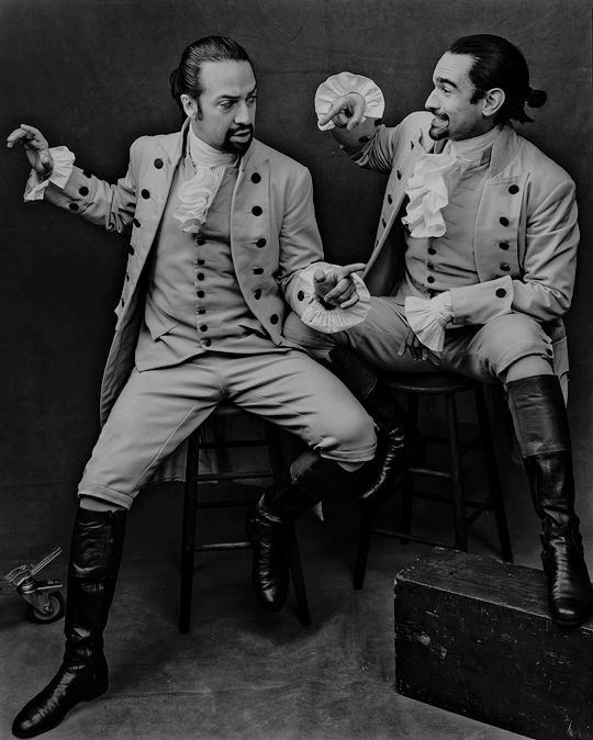 gunsandships: If ever there's been a Broadway role too big for one actor, Alexander Hamilton is it: nearly three solid hours of rapping, dancing, and dueling. Miranda, who obviously owns the job, cedes one performance a week to Muñoz, and although they look similar, the two Alexanders make radically different impressions.