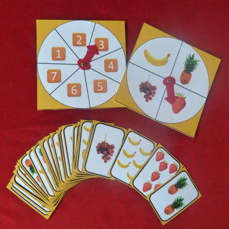 Jeu de numération des fruits de 1 à 7 (820131) - Autisme et Apprentissages