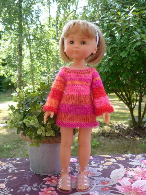 Robe manches raglan pour poupée Chérie: 1) http://marieetlaines.canalblog.com/archives/2016/06/13/32540745.html 2) http://p0.storage.canalblog.com/08/10/1066432/106255897.pdf