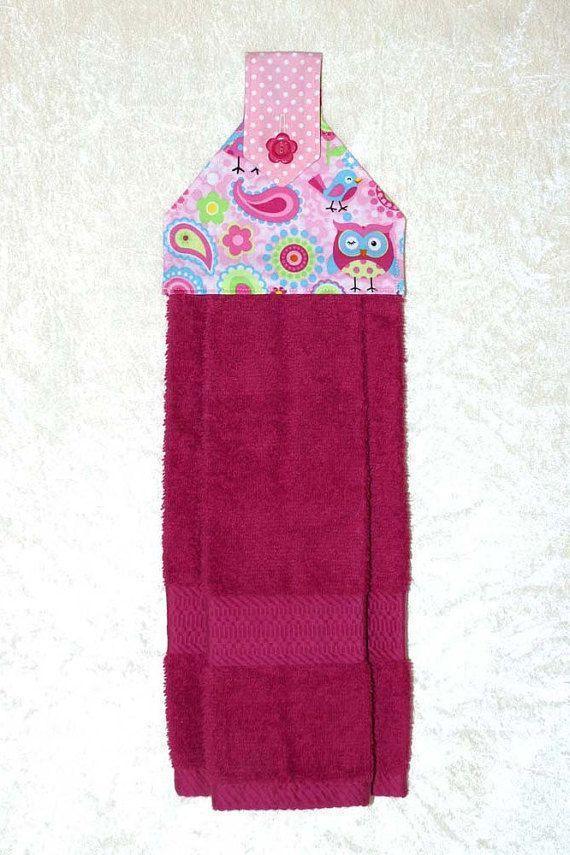 Kitchen Hand Towel U2022 Owl Towel U2022 Hanging Bath Towel U2022 PinkTea Towel U2022 Owl  Kitchen Part 54