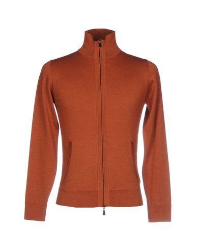 ALPHA STUDIO Men's Cardigan Rust 36 suit