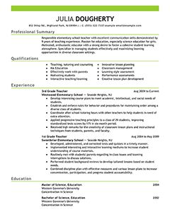 Teacher Resume Examples | Education Sample Resumes | LiveCareer