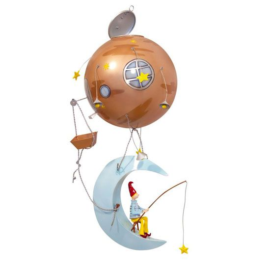 In a world of childhood fantasies, this gorgeous character from France suspend from the ceiling, gently delivering dreams to every child's imagination.   www.spiritedmama.com