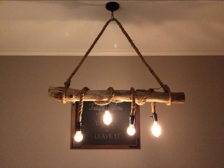 Lamp Met Touw Rustieke Lampen Landelijke Lampen Touw Lamp