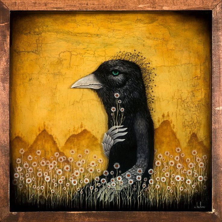 "Andy Kehoe Art Return to Lands of the Living 18"" x 18"""