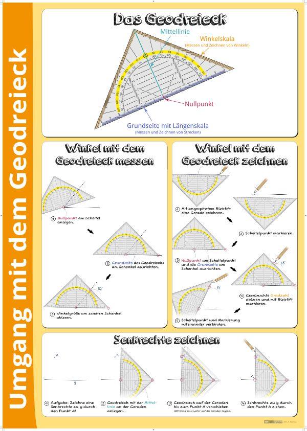 Umgang mit dem Geodreieck