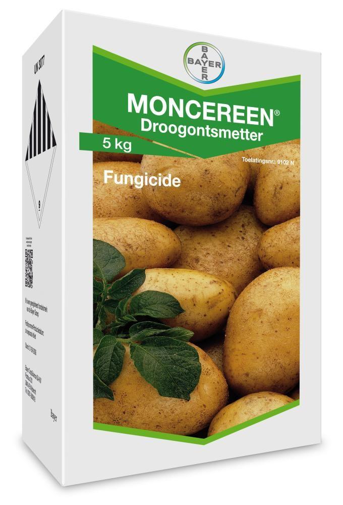 Moncereen DS. Fungicide voor behandeling van aardappelen vóór of tijdens het planten ter bestrijding van Rhizoctonia (lakschurft).