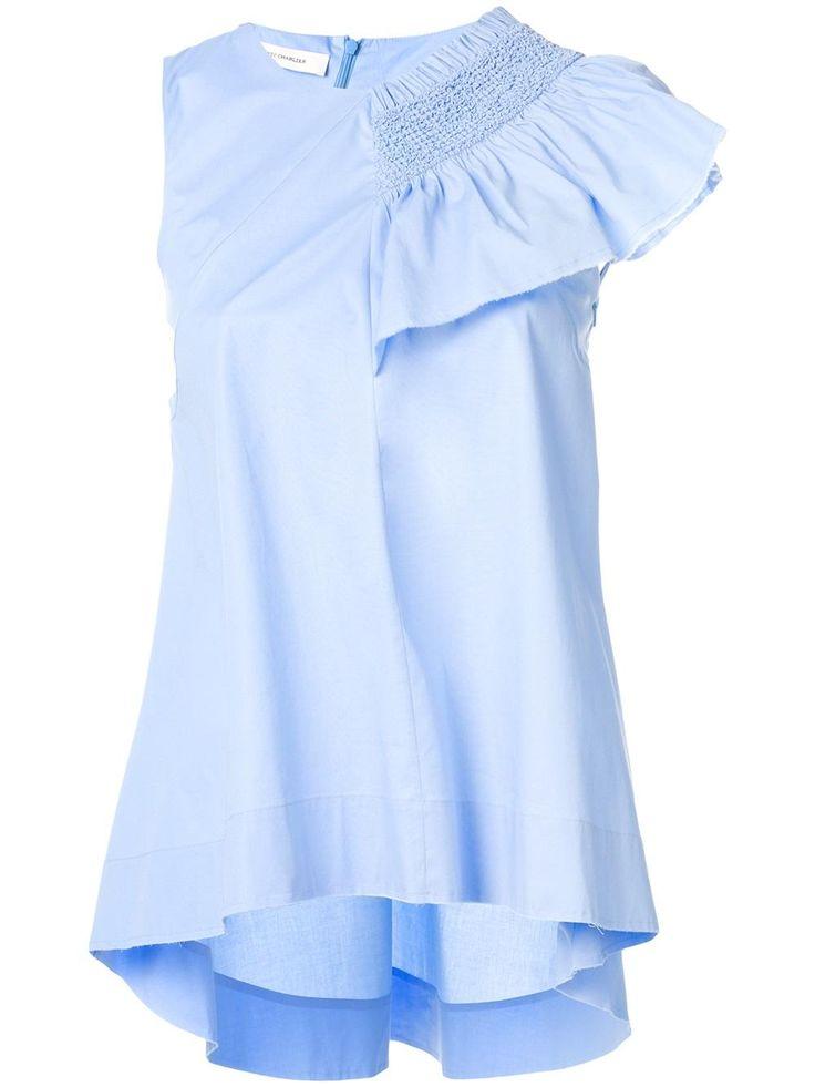 Cédric Charlier блузка с оборками