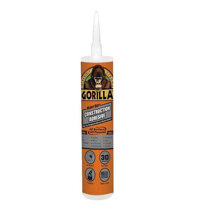 Gorilla 9oz heavy duty construction adhesive8010003