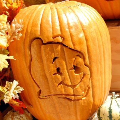 Kids love Pooh! Brighten up Halloween with this simple Winnie the Pooh pumpkin carving template perfect for kids.