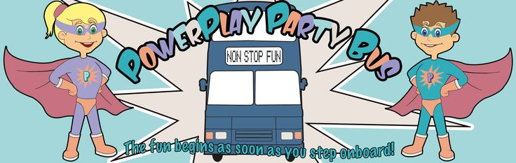 PowerPlay Party Bus website and Social Media sites banner.
