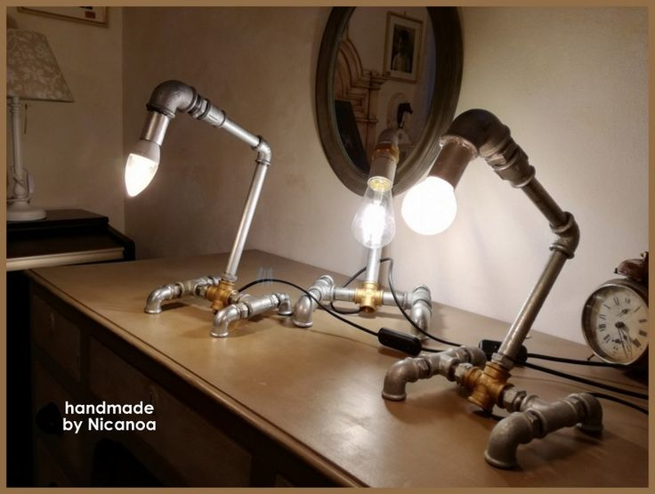 Pipe lamps handmade by Nicanoa